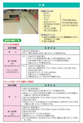 設備の衛生管理