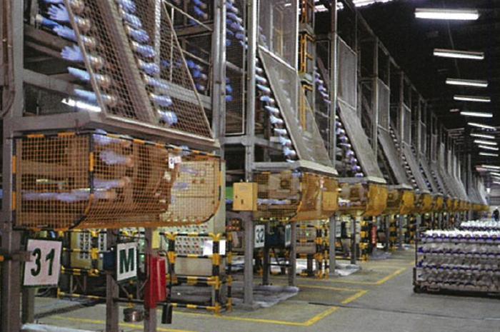 大規模なニトリル工場の様子