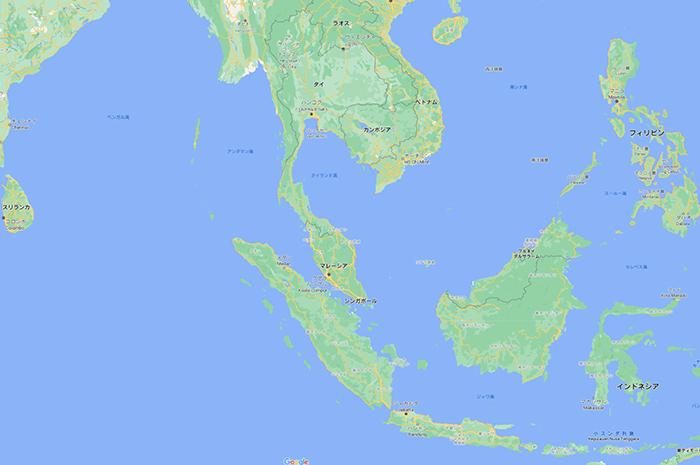 東南アジア周辺諸国の地図